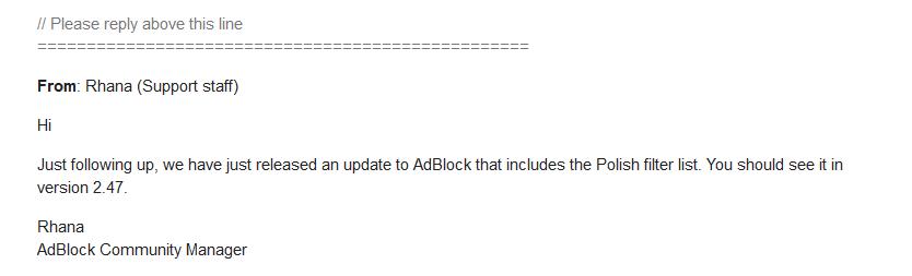 Filtry CertyficateIT oficjalnym dostawcą filtrów Adblock