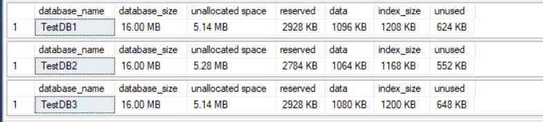 Wyświetlanie wielkości bazy danych wraz z informacją o wolnym miejscu w bazie w MS SQL