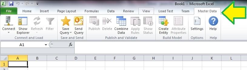 Master Data Services (MDS) dodatek do Microsoft Excel włączenie obsługi TLS 1.2